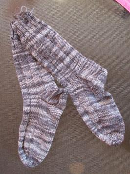 Strick-Socken Gr. 39/40 grau meliert