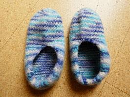 Filz-Hausschuhe / Pantoffeln Gr. 37/38 Blautöne
