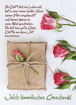 Rose auf Päckchen - Welch himmlisches Geschenk