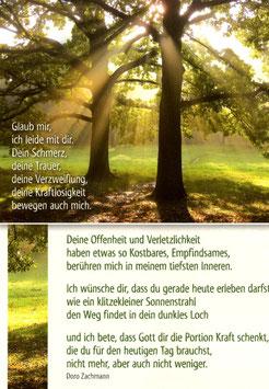 Postkarte: Lichtstrahlen
