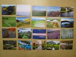 20 Postkarten LANDSCHAFTEN