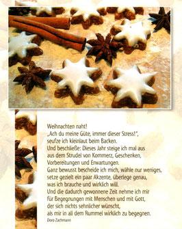 Postkarte Zimtsterne - Weihnachten naht