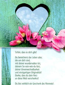 Herz in Holz - Schön, dass es dich gibt