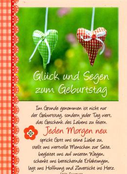 Postkarte: Glück und Segen