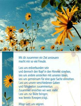 gelbe Blumen vor Himmel - mit dir zusammen
