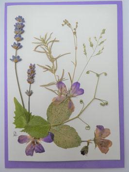"3er Set Blüten-Faltkarten ""lila Blüten"" BFP17"