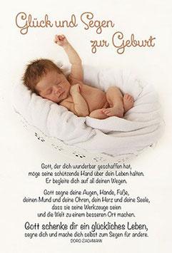 Faltkarte: Gott schenke dir ein glückliches Leben