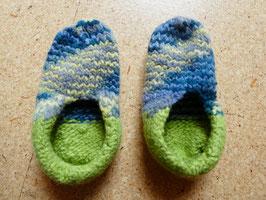 Filz-Hausschuhe / Pantoffeln für Kinder Gr. 30/31 in grün/gelb