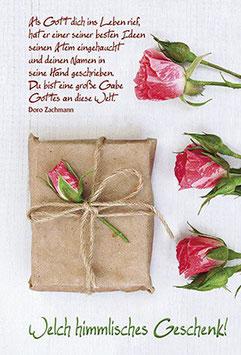Geburtstags-Faltkarte: Himmlisches Geschenk
