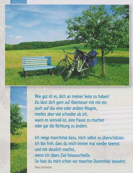Große Postkarte: Räder - Danke, dass du mich immer mal wieder bremst