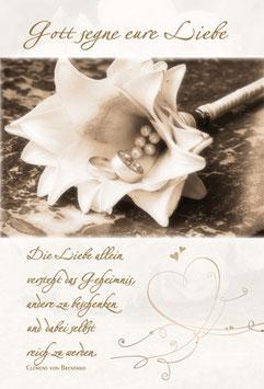 Faltkarte: Gott segne eure Liebe