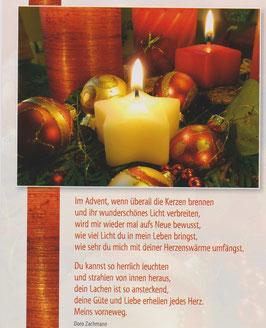 Postkarte: Im Advent, wenn überall die Kerzen brennen