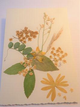 "3er Set Blüten-Faltkarten ""yellow stars"" BBP7"