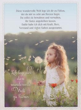 Mädchen mit Pusteblume - diese wundervolle Welt