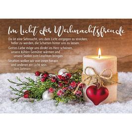 Weihnachts-Faltkarte: Im Licht der Weihnachtsfreude