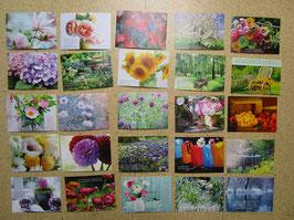 25 Postkarte BLUMENPHANTASIE