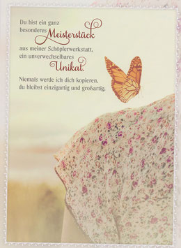 Blümchenrock und Schmetterling - Du bist ein Meisterstück
