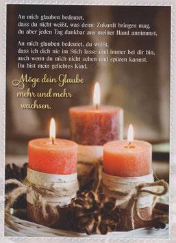 Drei Kerzen - Möge dein Glaube mehr und mehr wachsen