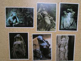 6 Postkarten FRIEDHOFS-SCHÖNHEITEN