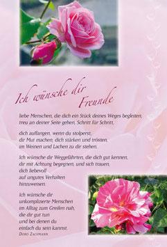Duft-Faltkarte: Ich wünsche dir Freunde
