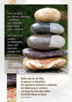 Steine aufeinander - Links und rechts von meinem Lebensweg