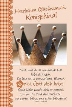 Faltkarte: Herzlichen Glückwunsch, Königskind!