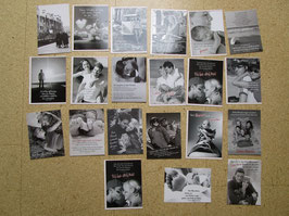 21  Postkarten SCHWARZ-WEISS