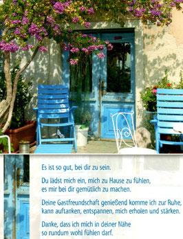 Blaue Idylle - deine Gastfreundschaft