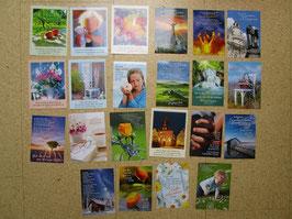 22 Postkarten HOCHKANT mit christlichen Texten