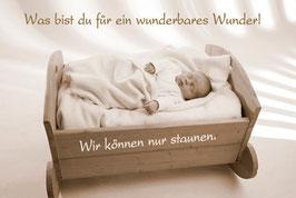 Baby-Faltkarte: Wunderbares Wunder