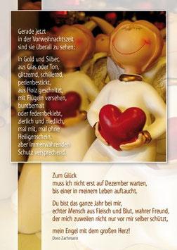Postkarte Vorweihnachtszeit - mein Engel