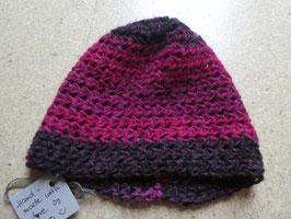 Damen Häkelmütze pink aus Naturwolle