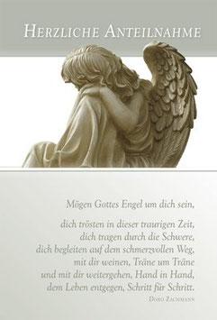 Faltkarte: Mögen Gottes Engel um dich sein
