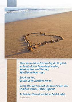 Herz am Strand - Gönne dir von Zeit zu Zeit