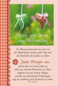 Geburtstags-Faltkarte: Jeden Morgen neu