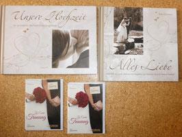 HOCHZEITS-4er-SET: Bildband, Erinnerungsalbum und 2 Grußhefte
