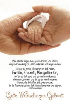 Faltkarte: Familie, Freunde, Weggefährten