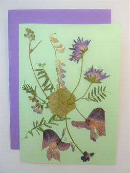 "3er Set Blüten-Faltkarten ""mint - türkis - lila"" BFP10"