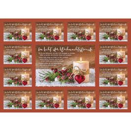 Aufkleber-Postkarte: Im Licht der Weihnachtsfreude