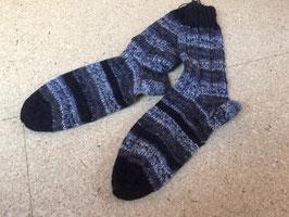 Strick-Socken Gr. 42/43 grau/schwarz