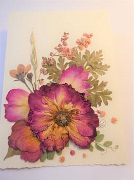 """3er Set Blüten-Faltkarten """"rote Rosen"""" BBP1"""