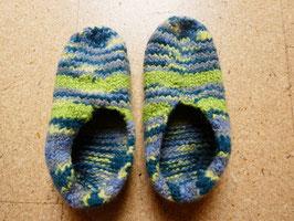 Filz-Hausschuhe / Pantoffeln Gr. 37/38 Grüntöne