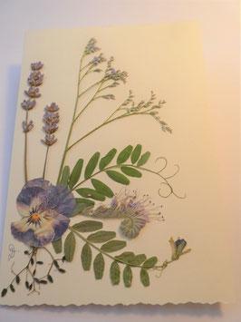 """3er Set Blüten-Faltkarten """"Lavendel und mehr"""" BBP4"""