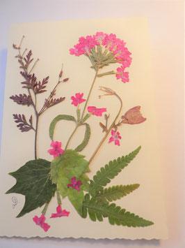 "3er Set Blüten-Faltkarten ""pink, blau, gelb"" BBP2"