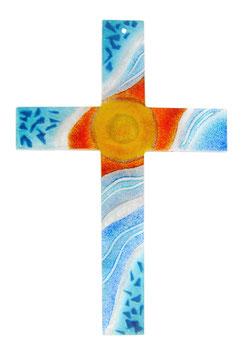 Glaskreuz Licht und Wasser 36 cm Nr. 17