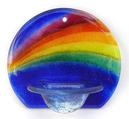 Glas Weihbecken rund mit Regenbogen W9