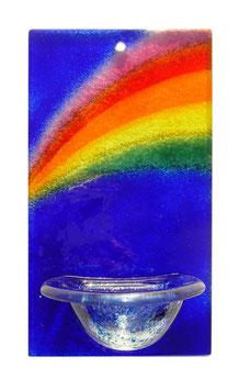 Glas Weihbecken Regenbogen W1