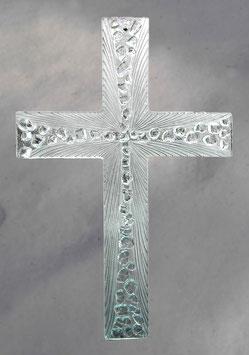 Glaskreuz transparent handgeschliffen 36 cm Nr. 27