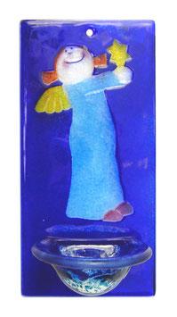 Glas Weihbecken für Kinder mit Engel W5