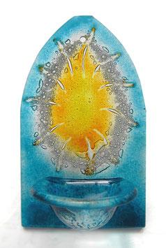 Glas Weihbrunnen in Spitzbogenform W3